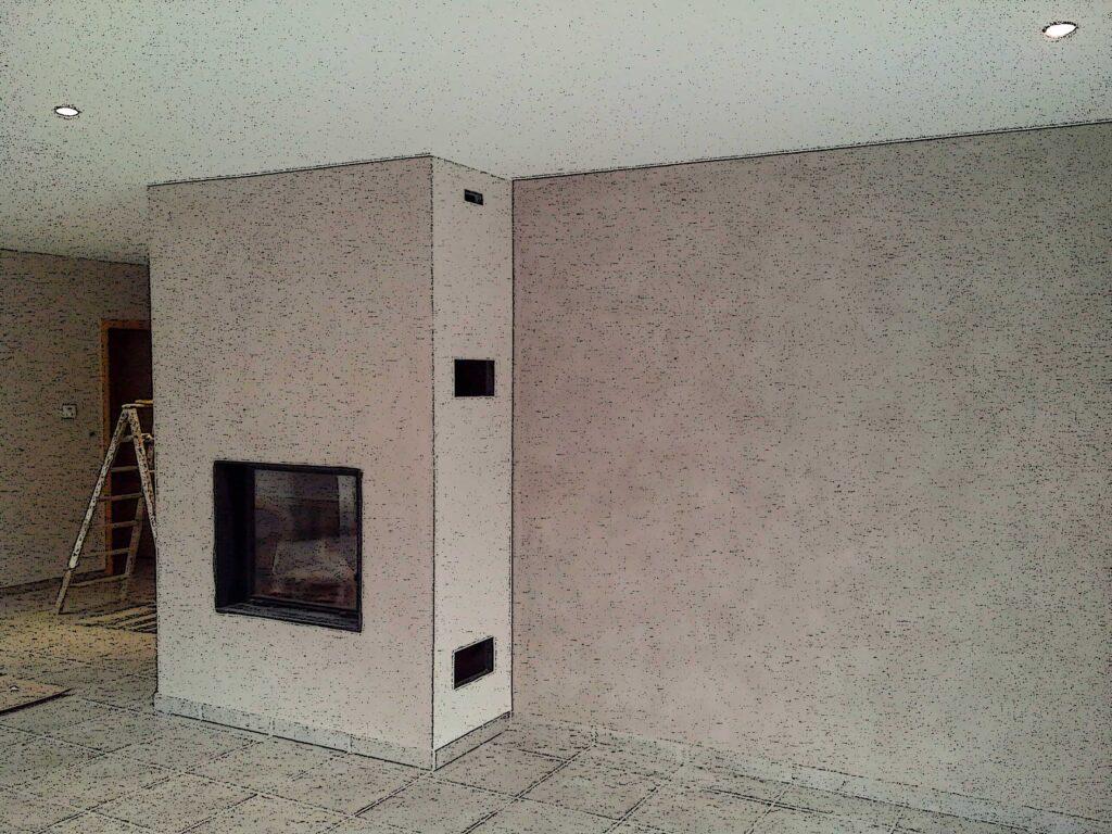 chantier intérieur peinture en bâtiment